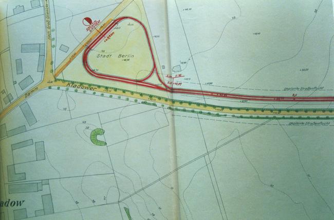 Endpunkt mit Kehrschleife der geplanten Straßenbahnlinie Pichelsdorf - Kladow 1936